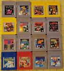 NINTENDO GAMEBOY GAMES - 17 Different Individual Game Carts Only