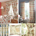 Kinsale Floral Print Lined Curtains (pair Of) - Free Tie Back - Choice Of Colour