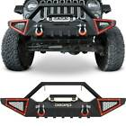 OEDRO Textured Front or Rear Bumper Combo fit for 2007-2018 Jeep Wrangler JK