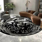 3D printed Round Vortex Illusion Pattern Anti-slip Carpet Floor Mat Door Mat