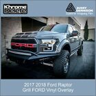 Ford Raptor Grill lettering overlay decal 2017 2018