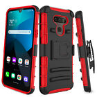 For LG Premier Pro Plus/Harmony 4 Phone Case Shockproof Clip Holster Stand Cover