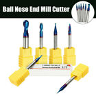 1Pcs Tungsten Carbide End Mill HRC65 Coated Ball Nose Milling Cutter 2  i