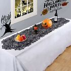 Halloween Black Lace Tablecloth Spider Web Table Runner Party Holiday Home Lb