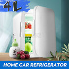 Mini 4L Cooler Cube Fridge Car Travel 12V Refrigerator Freezer Truck w/US Plu