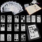 8/12pcs Bullet Journal Stencil Set Plastic Planner DIY Drawing Template Diary