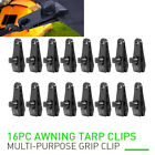 8/16PC Tarp Clips Clamps Snap Hangers Great for Camping Canopies Tents Canvas US
