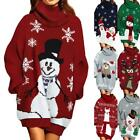 Women Christmas Sweater Elk Print Pullover Ladies Sweaters Winter Autumn Q2P9