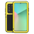Samsung Galaxy Shockproof Aluminum Tempered Glass Metal Phone Case Cover