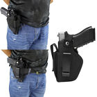 TACTICAL OWB IWB CARRY NYLON GUN CAR HOLSTER WITH MAGAZINE SLOT POUCH BELT LOOP