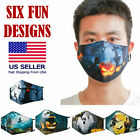 Halloween Face Mask - Cloth with Filter Pouch - US SELLER - FAST SHIPMENT!