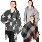 Womens Knitted Wrap Shawls Soft Scarf Blanket Winter Warm Thick Cashmere Poncho