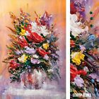 "24W""x36H"" BOUQUET OF FLOWERS III by PIERRE LOMBARDI - SPATULA CHOICES of CANVAS"