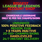 League of Legends Account LOL EUW Handlevel Unranked 30 All Champs Smurf...