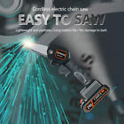 4'' Mini Cordless Electric Chainsaw Rechargeable 24V Battery Wood Cutter tool