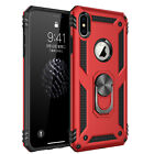 For iPhone 11 Pro Max 7 8 Plus XS Max XR X Case Kickstand Shockproof Ring Cover