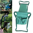 Garden Kneeler Seat Stool with Foam Pad Folding Portable Kneeling Chair Tool Bag