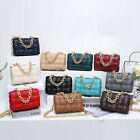Padded Woven Quilted Gold Chain Strap Shoulder Bag Crossbody Clutch Purse Flap