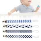 4Pcs Metal Clip Baby Pacifier Clips Printing Infant Soother Holders Accessories