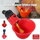 5Pcs/Pack Animal Waterer Drinker Bowl Chicken Birds Pigeon Farm Feeding Tool D2