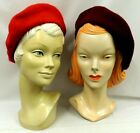 Reds Classic 100% Pure New Wool Timeless staple 1930's 1940's Vtg style Beret
