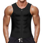 Men Sweat Waist Trainer Zip Vest Weight Loss Top Neoprene Body Shaper Fat Burner