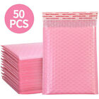 50x Bubble Padded Envelopes Bags Waterproof Self Seal Poly Courier Bags Pink