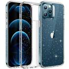 ESR Clear Glitter Case for iPhone 12 Pro Max 12 Mini, Soft Bling Shimmer Series