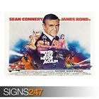NEVER SAY NEVER AGAIN SEAN CONNERY 007 (ZZ091) MOVIE POSTER Poster A0 A1 A2 A3