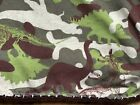 "Dinosaur  Child  blanket Camouflage Colors  Cotton Knit 56""x66"""