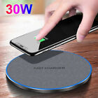 30W Quick Qi Wireless Charger Charging Pad Mat For iPhone 12 12Pro 11 11Pro XS 8