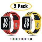 2 PACK 38/42/40/44mm Silicone Sport Band Strap for Apple Watch 6 5 4 3 iWatch SE