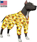 LovinPet Large Dog Pajamas/Post Surgery Shirt Dog/UV Protection/Hamburger Prints