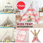 Indian Playhouse Large Canvas Children Indian Tent Teepee Kid Wigwam Indoor