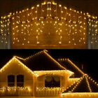 216LED Fairy Icicle String Curtain Lights Indoor Outdoor Xmas Decor Garden