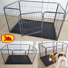 Dog Puppy Cage Pet Playpen Whelping Foldable Easy Carry Panels Run Enclosure