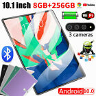 """10.1"""" 8 256GB Tablet WiFi Bluetooth Android 10 HD 2560 1600 10 Core Game GPS"""