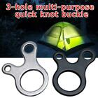 Quick Knot Tent Wind Rope Buckle 3 Hole Antislip Outdoor Hook T5d5 Ca U1o0
