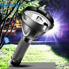 Super Bright LED Flashlight USB Input Output Rechargeable Built-in 32650 Battery