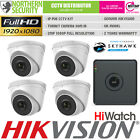 HiLook HD 1080P 2MP 4MM Night Vision Outdoor POE IP Home Security System Kit