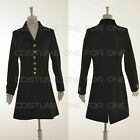 Black and Gold Color Buttons Ladies Hartland Livery Coats Cosplay Costume Party
