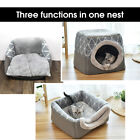 Fleece Cat House with Bed Foldable Warm Kennel Cat Igloo Sleeping Cave Washable