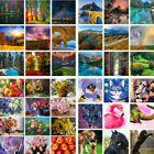 Scenery  Flowers Animals Pattern DIY Paint By Number Kit Acrylic Oil Painting