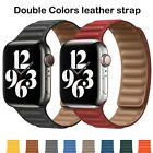 Magnetic Leather Link Bracelet iWatch strap for Apple watch band Series 6 SE 5 4