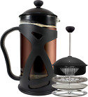 KONA French Press Coffee Maker With Reusable Stainless Steel Filter, Large Comfo