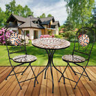 Mosaic Bistro Set Table Folding Chair Home Garden Outdoor Patio Furniture
