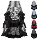 50S Long Gothic Victorian Ruffle Skirt Ladies Steampunk High-Low Dress Plus Size