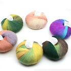 50g Hand-woven Colorful Cotton Yarns Soft Crochet Cashmere Wool For Diy Knitting