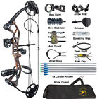 Youth Compound Bow Arrows Set 10-40lbs Adjustable Adult Women Archery Hunting