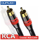 RCA to RCA Digital Coax Audio Cable Male Stereo Connector TV DVD...